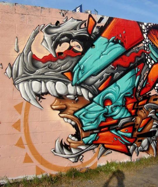Grafiti Terbaik 2015 - Grafiti ROBOT, Monster