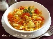 Šalát z čínskej kapusty - recept