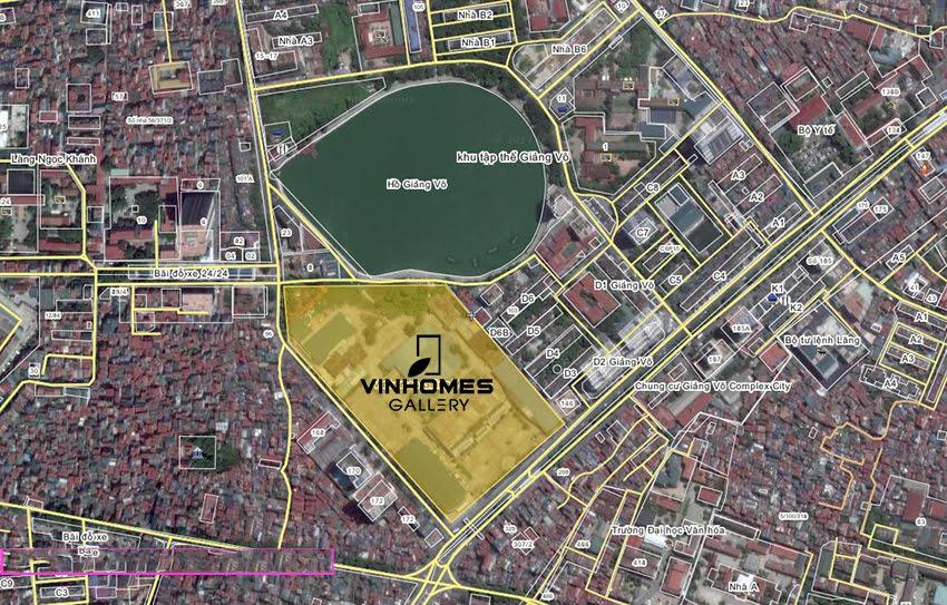 Vị trí đắc địa tại dự án chung cư Vinhomes Gallery Giảng Võ