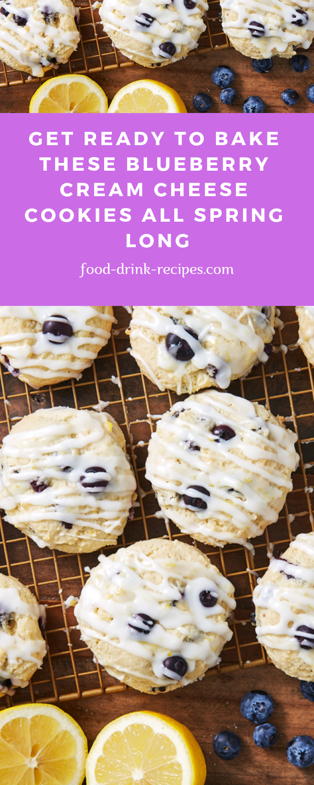 Get Ready To Bake These Blueberry Cream Cheese Cookies All Spring Long - food-drink-recipes.com