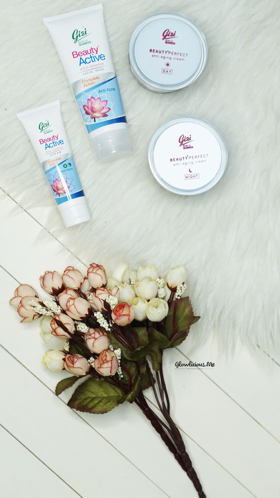 Review Rangkaian Skincare Gizi Beauty Perfect Anti Aging & Gizi Beauty Active Lotus Essence