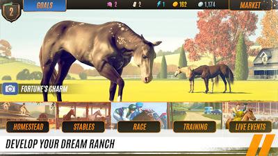 لعبة Rival Stars Horse Racing النسخة المهكرة للاجهزة الاندرويد