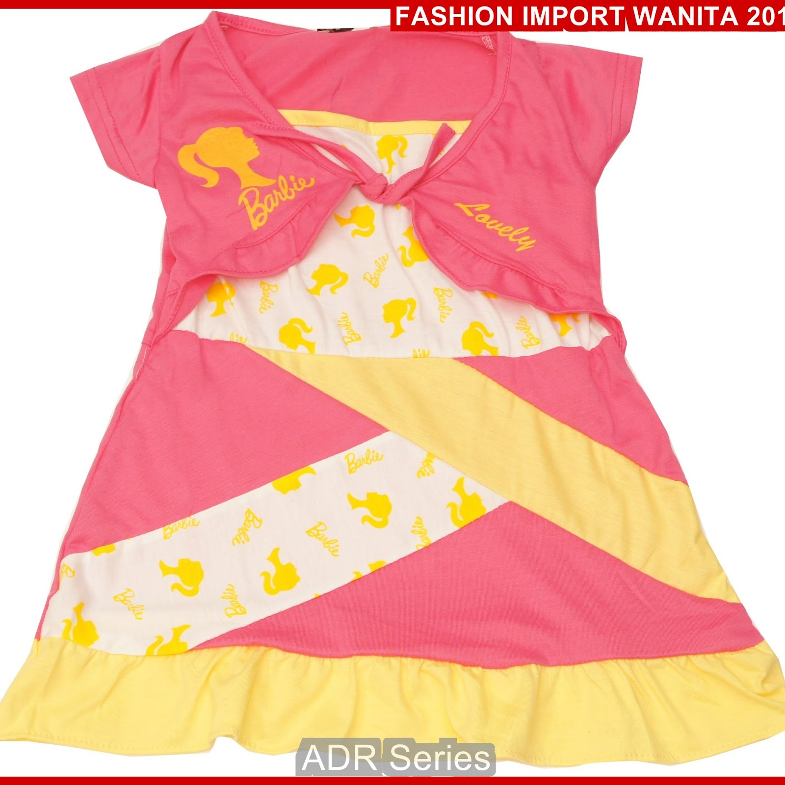 ADR169 Dress Wanita Salem Anak BB Import BMGShop