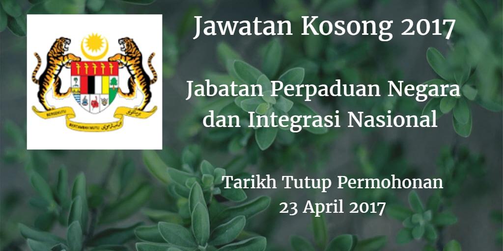 Jawatan Kosong JPNIN 23 April 2017