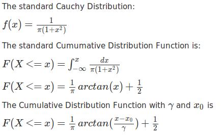 BioRpy: py27  Cauchy Distribution in Python