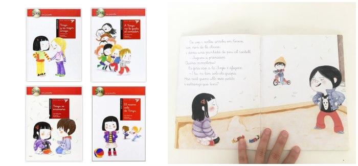 cuentos libros infantiles en letra ligada colección Yinyu edelvives con CD
