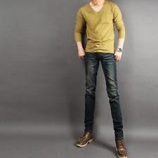 กางเกงยีนส์ขาเดฟชาย