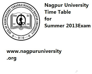 My Results India: nagpur university summer 2013 exam time