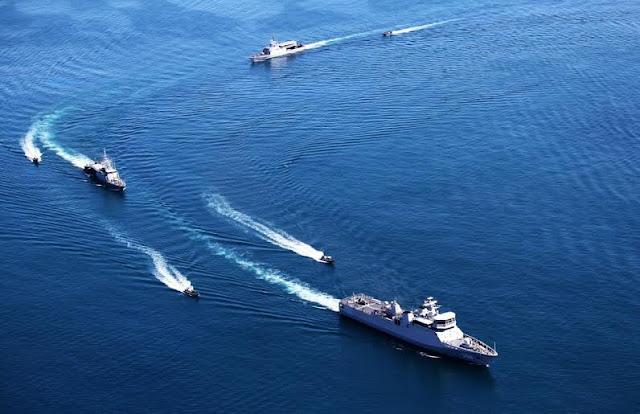 Sejumlah Kapal Perang Peserta Komodo 2016 Tiba di Perairan Teluk Bayur