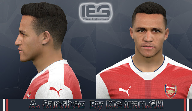 PES 2017 A. Sanchez Face by Mehran.GH