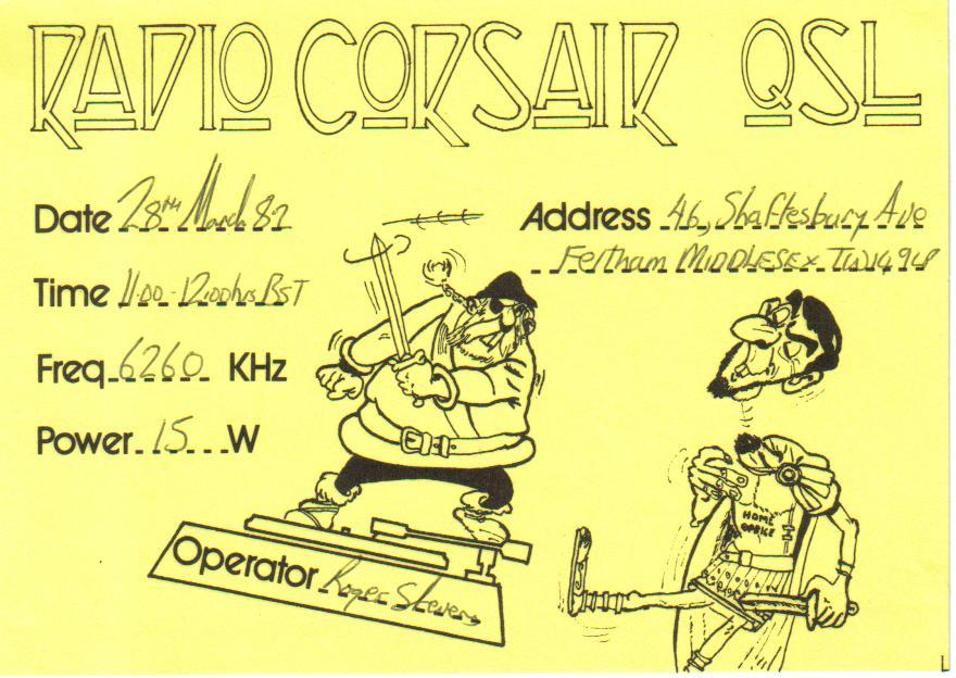 Pirate Memories: Radio Corsair & Skyport Radio