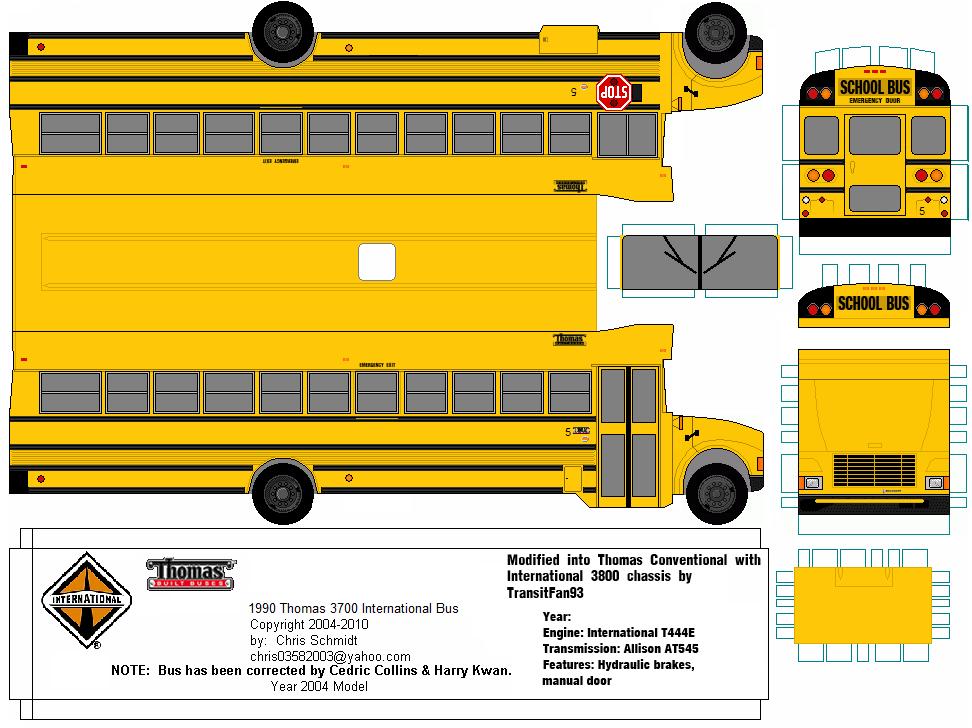 SP  Papel Modelismo: PaperCraft Thomas Conventional 3800