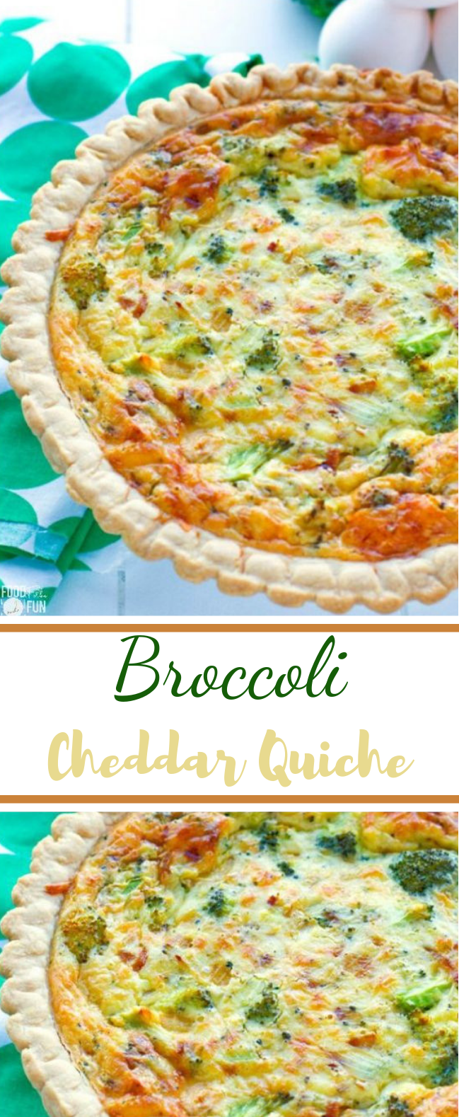 Easy Broccoli Quiche #healthy #vegetarian