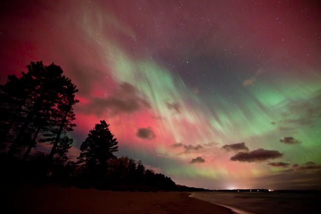 Aurora over Michigan