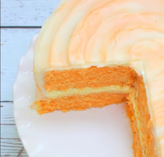 ORANGE DREAMSICLE CAKE- DELICIOUS HOMEMADE RECIPE #dessert #cakes