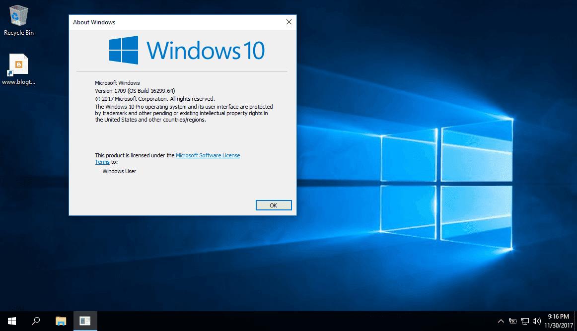 Sửa lỗi không cập nhật được bản vá lỗi trong Windows 10 Pro Lite version 1709