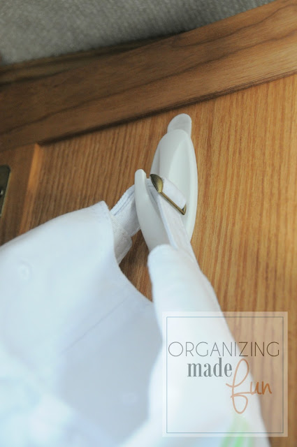 Command hooks for back of the door in the RV :: OrganizingMadeFun.com