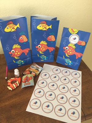 Finding Nemo Pre-School Birthday Favors