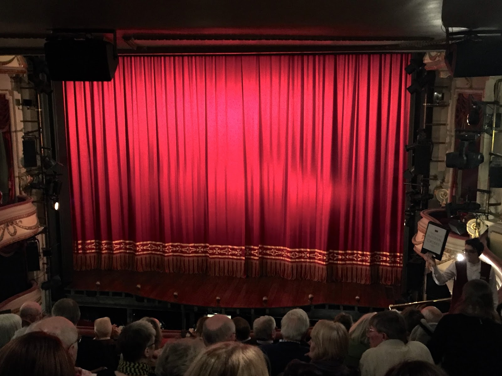 Noël Coward theatre seat view