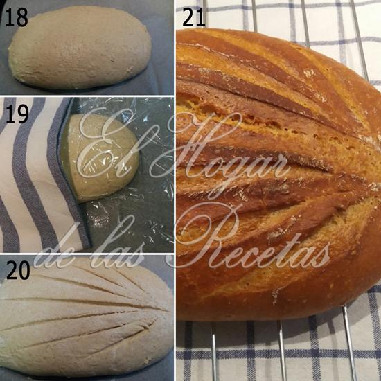 Hacer pan paso a paso: Reposo antes del horneado, greñado y producto final después del horneado