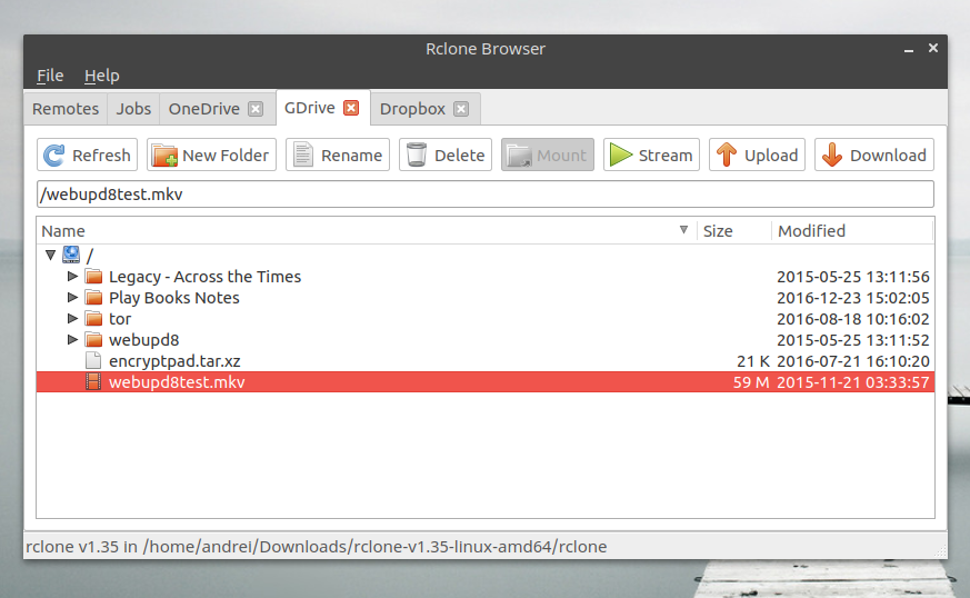 RcloneBrowser (Rclone GUI) Lets You Manage Multiple Cloud