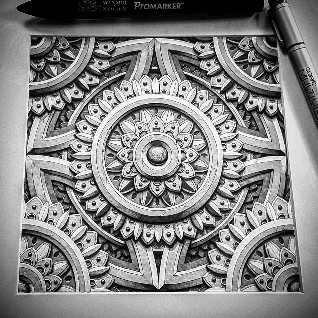 10-The-sigil-Baz-Furnell-3D-Looking-Mandala-Drawings-www-designstack-co