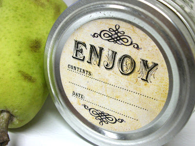 vintage mason jar label