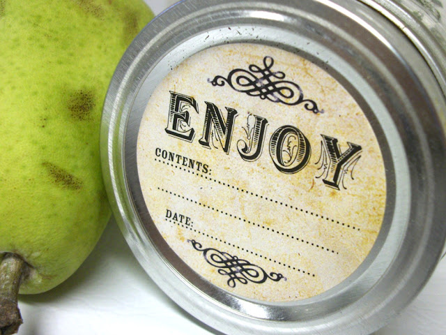 vintage mason jar label