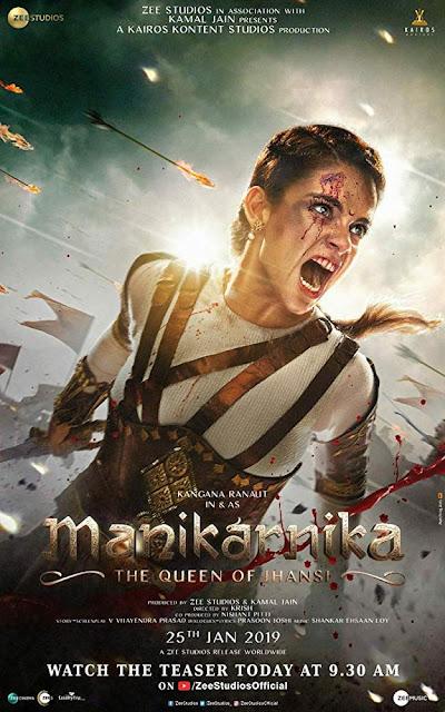 Manikarnika: The Queen of Jhansi 2019 Audio  HDRip 480p ESub x264