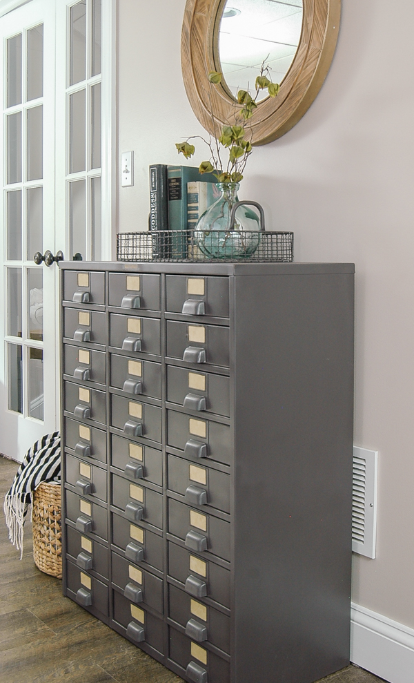 How to update a vintage metal hardware cabinet