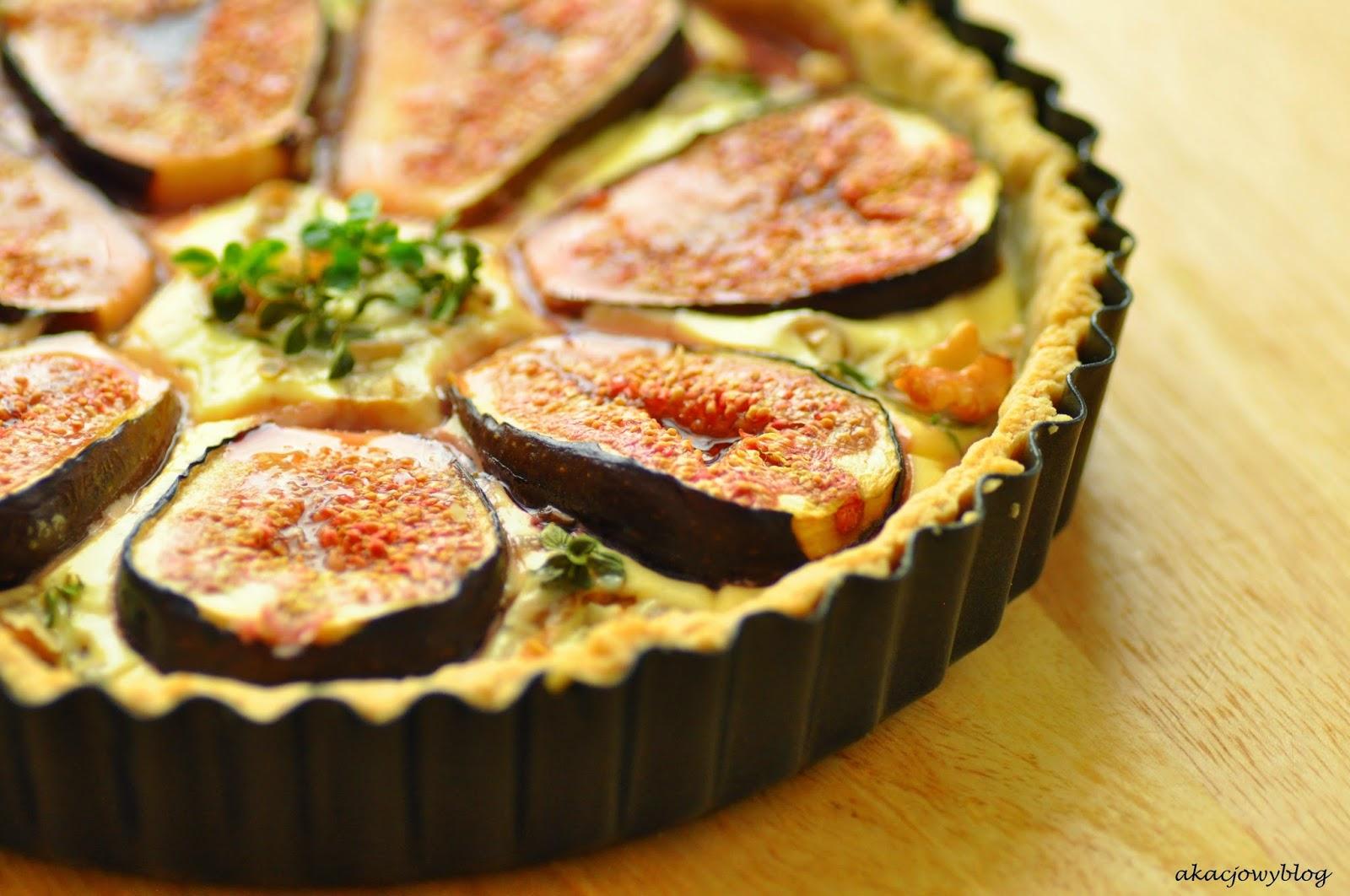 Wytrawna tarta z figami.
