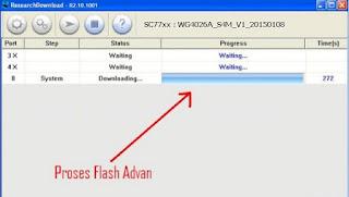 Cara Flashing Advan S4M Atasi Bootloop