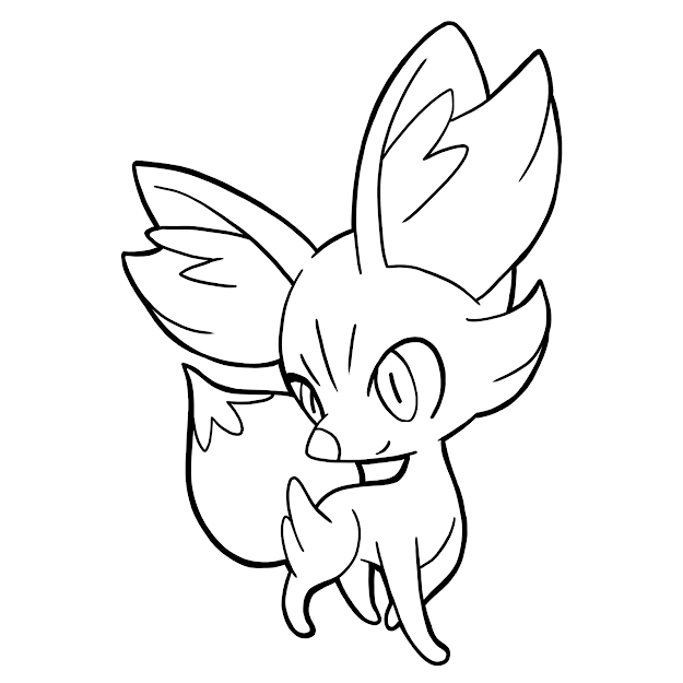 Fennekin Colouring Pages Page  Within Pokemon Coloring Pages Fennekin