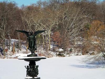 Winter snow central park New York City