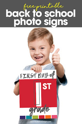 first day of school signs to print