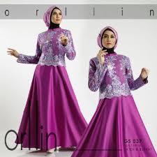Model Busana Pesta Muslim Brokat Sifon Terbaru