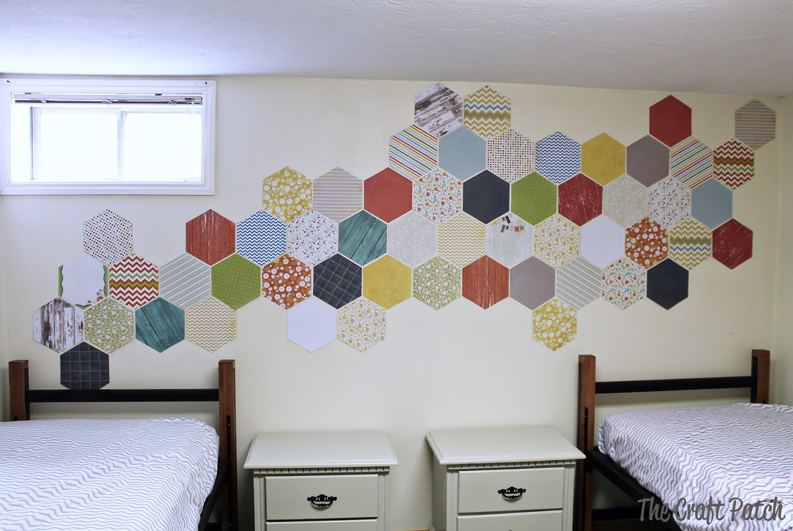 Kids Room Decorating Hexagon Wall Treatment