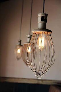 utensilios de cocina reciclados para lamparas
