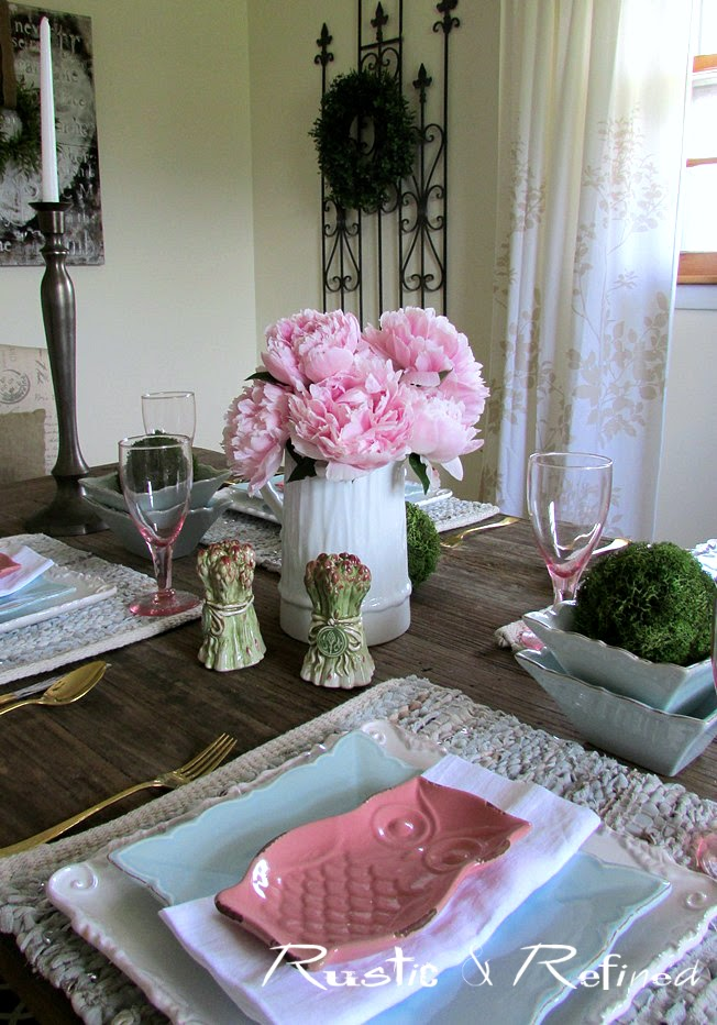 Pink Peony Tablescape Rustic Amp Refined