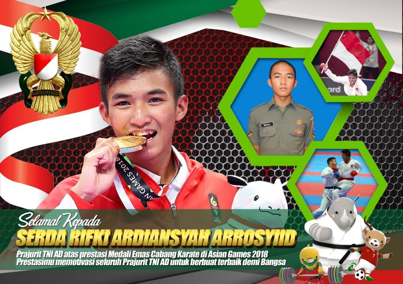Prajurit TNI AD Meraih Emas Cabang Karate Asian Games 2018