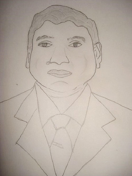 Pencil Sketch Drawing of Father