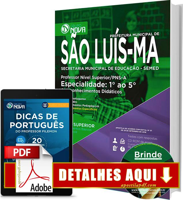 Apostila SEMED 2016 São Luís Professor 1º ao 5º ano Impressa