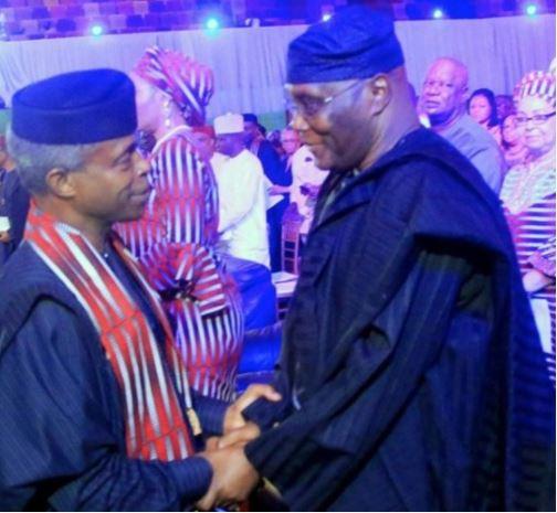 The Moment VP Osinbajo Met Ex VP Atiku Abubakar In Abuja