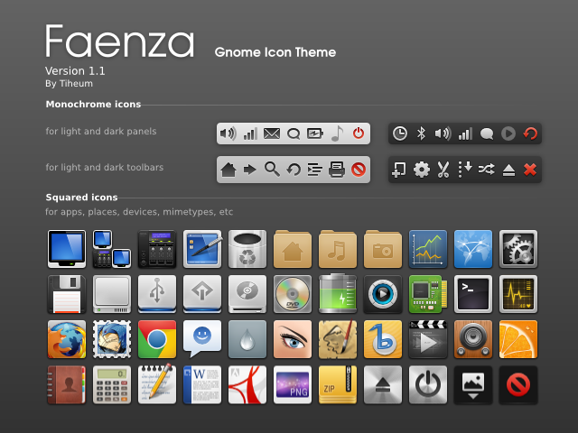The Faenza icons 1.1 disembarking on Ubuntu 11.10! Here's how to install