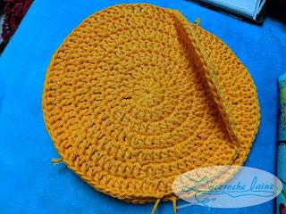 L'accroche laine - Protège poêle tranche d'orange