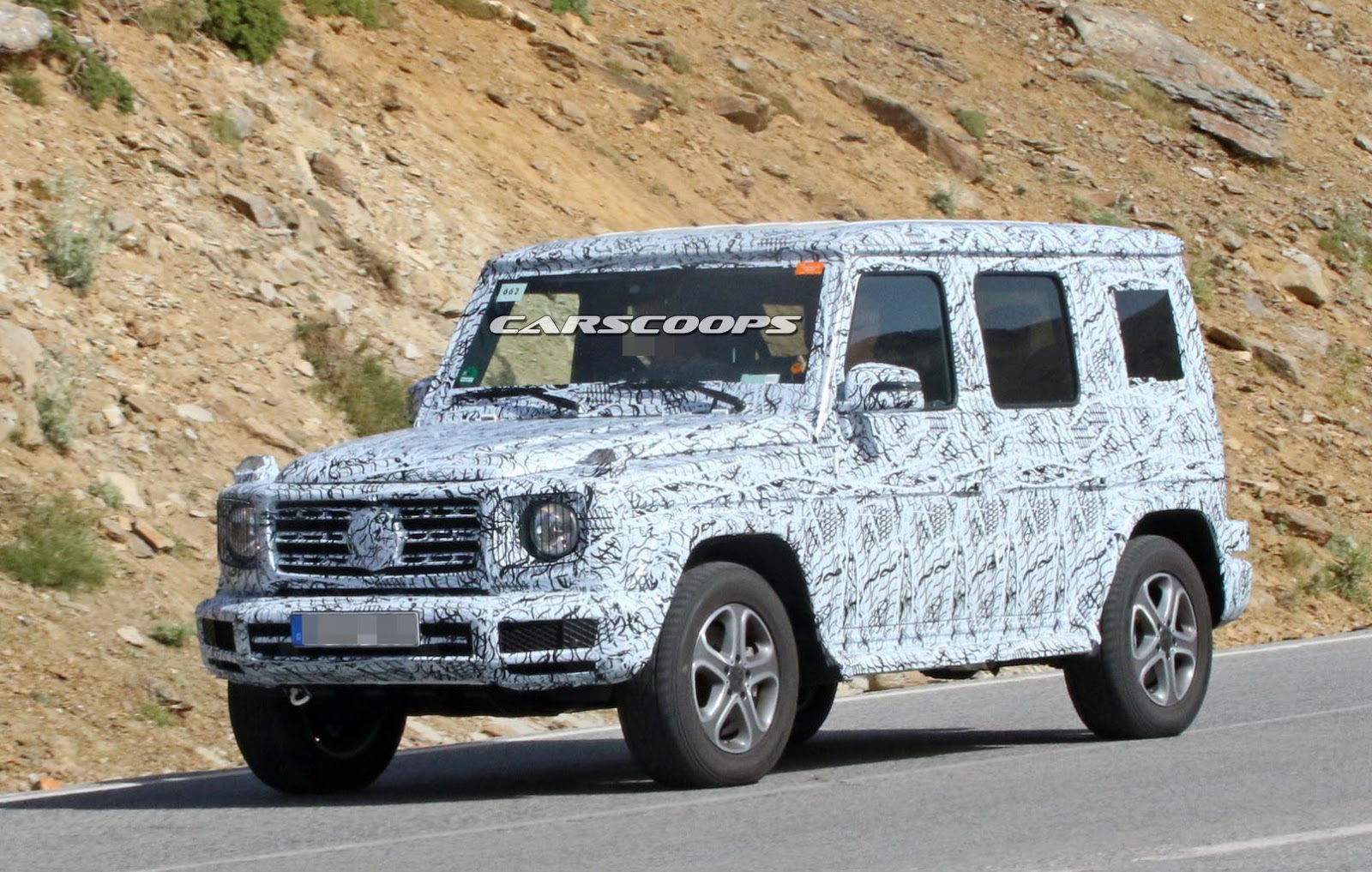 new 2018 mercedes g class mule looks the same but it s far. Black Bedroom Furniture Sets. Home Design Ideas