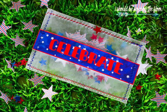 DIY Quilted Patriotic Coasters | Make these fun red, white, and blue coasters for simple hostess gifts or festive decor.