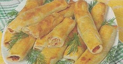 Трубочки с капустой. Экономный рецепт, все ингредиенты и как готовить блюдо.