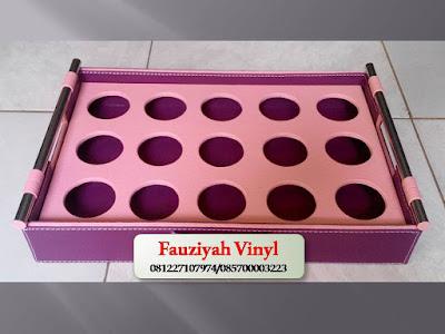 Kerajinan Vinyl Tempat Aqua Gelas Isi 15