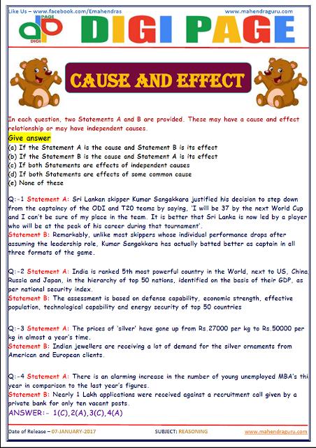 DP   CAUSE & EFFECT   7 - JAN - 17